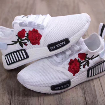 Adidas: Rose Embroidery sports shoes