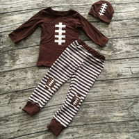 Preorder- 3 piece Baby Football Outfit