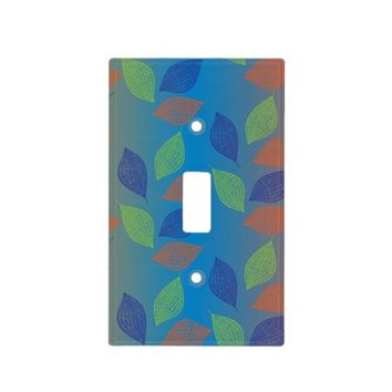 Colorful Doodle Leaves Light Switch Cover