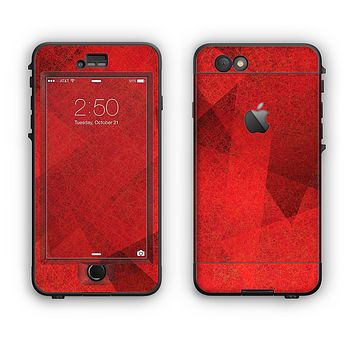 The Dark Red with Translucent Shapes Apple iPhone 6 Plus LifeProof Nuud Case Skin Set