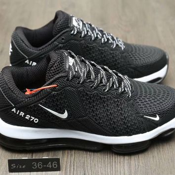 """Nike Air Max 270"" Unisex Sport Fashion Comfortable Air Cushion Running Shoes Couple Jogging Sneakers"