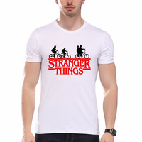 Fashion Stranger Things T Shirt Men Tees Clothing Funny Novelty Cool Tops Men's Short Sleeve