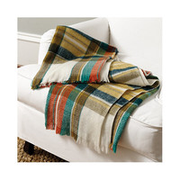 Autumn Oversize Plaid Throw | Ballard Designs