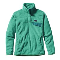 Patagonia Women's Re-Tool Snap-T® Fleece Pullover | Tailored Grey - Nickel X-Dye w/Tobago Blue