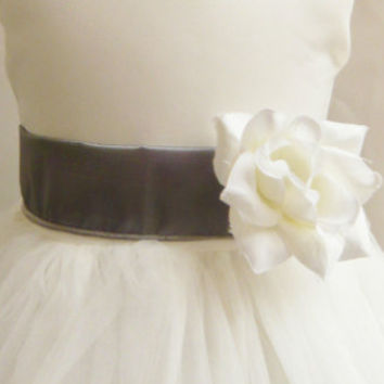 Colorful Sash with Color Matching Flower