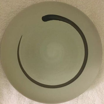 "Threshold Selby Stoneware Swirl Design Pattern Dinner Plate 11"" D Made in China"