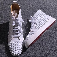 Cl Christian Louboutin Louis Spikes Style #1889 Sneakers Fashion Shoes - Best Online Sale