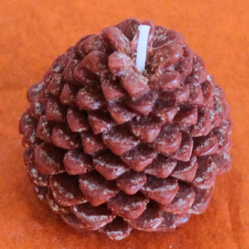 Set of 3 Pine Cone Candles, Pick your fragrance! Natural Wax Thanksgiving Fall November