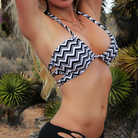 Santa Cruz Strappy Back Bikini Top - Shadow Peak