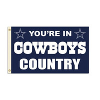 Dallas Cowboys NFL You're in Cowboys Country 3'x5' Banner Flag