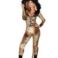 Halloween Tiger Catsuit Costume