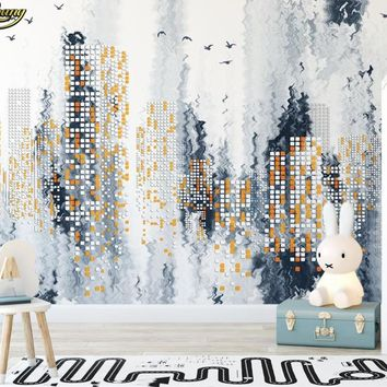 beibehang Custom Photo Wallpaper Large Mural Modern Abstract Simple City Night Landscape papel de parede wall papers home decor