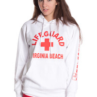 Girls White Lifeguard West Coast Hoodie