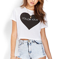 Follow Your Heart Cropped Tee