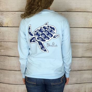 Limited Edition Powder Blue Pocketed Snowflake Print