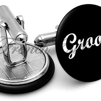 Design #6 Groom Wedding Cufflinks