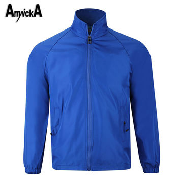 AmynickA Sport Jacket Men Waterproof Thin Running Rain Hiking Camping Fishing Outdoor Male jacket Windbreaker Size M-4XL A90