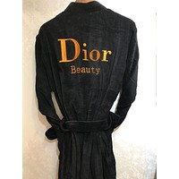 Dior Embroidery Logo Bathrobe