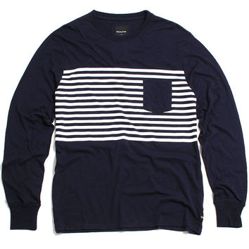B.Original Longsleeve T-Shirt Navy / White Stripe