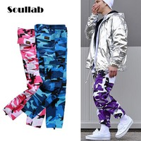 high quality many colors men bottoms colorful camo camouflage baggy joggers pants cargo trousers fashion hip hop street clothing