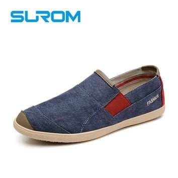 Men's Driving Shoes Canvas Denim Jeans Light Breathable Slip On fashion casual men's boat shoes spring new loafers
