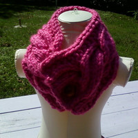 Ladies,girls, winter cable neck warmer/Ready to ship