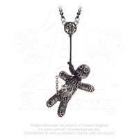 Alchemy Gothic Voodoo Doll Pendant Necklace