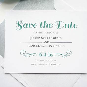 Green Save the Date Cards - DEPOSIT