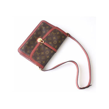 Louis Vuitton vintage bags, louis vuitton bags, louis vuitton purses , Monogram Brown bag, Designer Handbags 80's