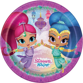 Shimmer and Shine 7 Inch Dessert Plates [8 per Pack]