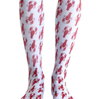 Lobster Knee High Socks