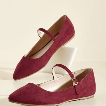All You've Ever Jaunted Flat in Wine | Mod Retro Vintage Flats | ModCloth.com