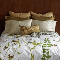 Blissliving Home Amanda 300 Thread Count Full/Queen Duvet Set, Green Graphic