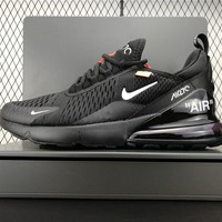 Brand New Custom Off-white X Nike Air Max 270 In Black 2018 - Beauty Ticks