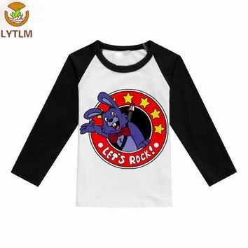 LYTLM Autumn 2018 Girls Clothes Top  at Freddy Little Girls Clothing  with Long Sleeves Boy T Shirts for Children