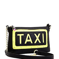 KITCH FLASHING LIGHTS TAXI CROSSBODY: Betsey Johnson
