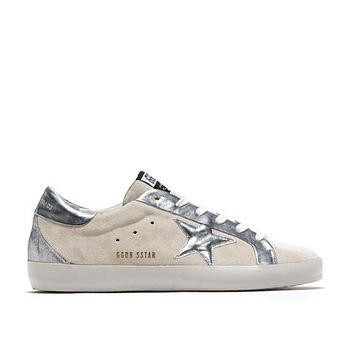 golden goose deluxe brand superstar bespoke sneakers white silver