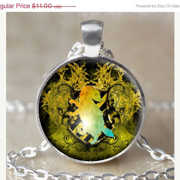 ON SALE Hufflepuff Crest Necklace