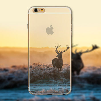 Prairie Sunset Tourism Scenery iPhone 5 5S iPhone 6 6S Plus creative case + Nice Gift Box -125