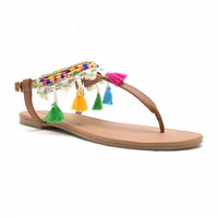 Qupid Womens Flat Sandals - JCPenney