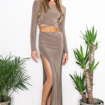 Akilah Two-Piece Set - Taupe