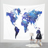 world map wall tapestry,blue world map tapestry,world map tapestry,globe tapestry,map tapestry,world tapestry,blue map wall tapestry,