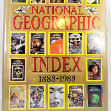 National Geographic Index, 1988 - 1988, 100 Years, Vintage Reference Books