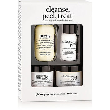 Philosophy Cleanse, Peel, Treat Trial Kit | Ulta Beauty