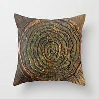 """""""Warrior"""" Textured Acrylic Abstract Painting Throw Pillow by Sheila Wenzel"""