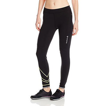 Reebok Womens Fitted Tight Running Athletic Pants