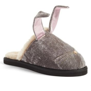 kate spade new york 'bonnie - bunny' velvet slipper (Women) | Nordstrom