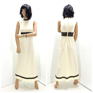 60s Renaissance dress / XS size 3 / 4 / boho hippie festival dress / vintage 1960s maxi dress