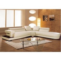 Tosh Furniture Contemporary Leather Sectional Sofa | Modern Furniture Warehouse
