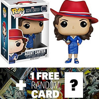 Agent Carter: Funko POP! x Agent Carter Vinyl Figure + 1 FREE Official Marvel Trading Card Bundle [59200]